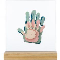 Cadre transparent 4 empreintes Family Prints