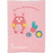 Livre de naissance chouette Mademoiselle et Ribambelle personnalisable - Moulin Roty