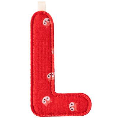 Lettre en tissu à suspendre L Alice (9,5 cm)  par Lilliputiens