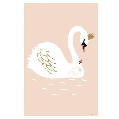 Affiche Cygne Swann (60 x 40 cm)  par Mimi'lou