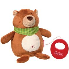 Peluche musicale ours (16 cm)