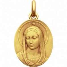 Médaille Vierge Maris Stella ovale (or jaune 750°)