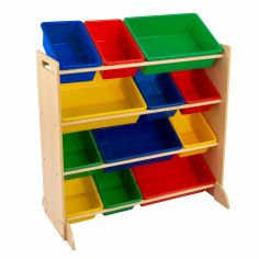 Meuble de rangement Sort It & Store It multicolore (12 bacs)