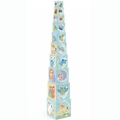 Cubes empilables BabyBloki (10 pièces)  par Djeco