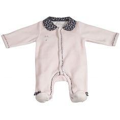 Pyjama chaud Miss Fleur de Lune rose (3 mois)