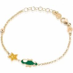 Bracelet sur chaîne Primegioie Lucky Lézard (or jaune 375°)