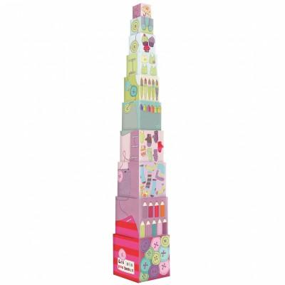 Cubes empilables Les jolis pas beaux  par Moulin Roty