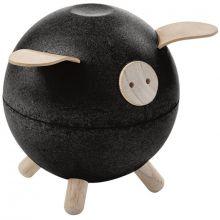 Tirelire cochon noire  par Plan Toys