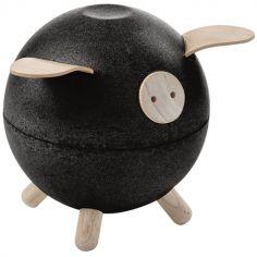 Tirelire cochon noire