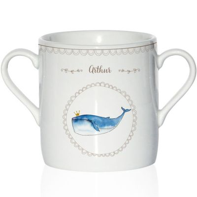 Tasse en porcelaine Baleine (personnalisable)