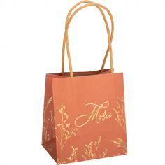 Lot de 6 sacs cadeaux Merci Brindilles terracotta