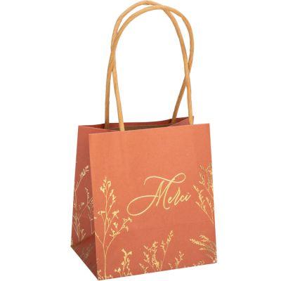Lot de 6 sacs cadeaux Merci Brindilles terracotta  par Arty Fêtes Factory