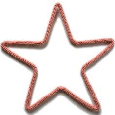 Déco murale petite étoile en tricotin (coloris personnalisable)