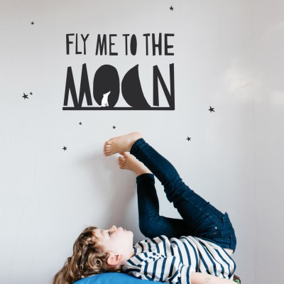 Sticker Fly me to the moon Mimi'lou