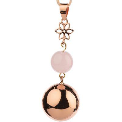 Bola design perle et fleur (plaqué or rose)  par Bola