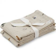 Lot de 2 langes Arctic mix (70 x 70 cm)