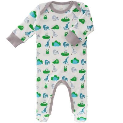 Pyjama léger Animaux de la forêt gris (naissance : 50 cm)  par Fresk