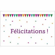 Carte de félicitations naissance Fanions  par A cause de toi !