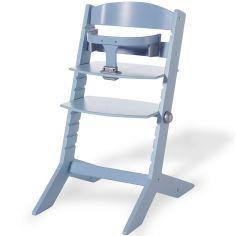 Chaise haute Syt évolutive bleue