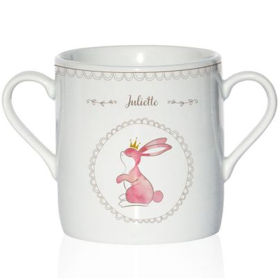 Tasse en porcelaine Lapin (personnalisable)