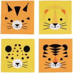 Lot de 20 serviettes en papier félin The Eye of the Tiger