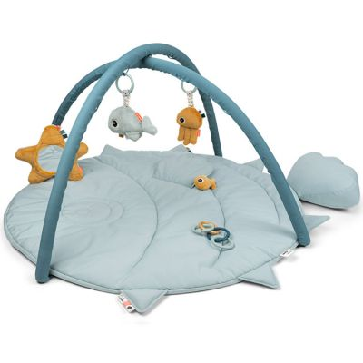 Tapis d'éveil avec arches bleu Sea friends  par Done by Deer