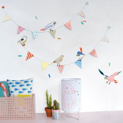 Stickers guirlande Birds on a string