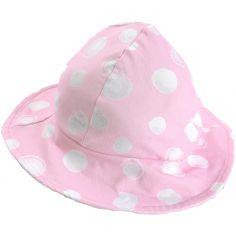 Chapeau à pois rose Cocon (3-6 mois)