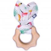 Anneau de dentition en bois imprimé exotique - BB & Co