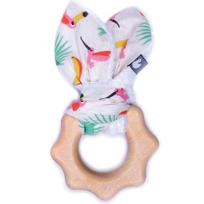 Anneau de dentition en bois imprimé exotique  par BB & Co
