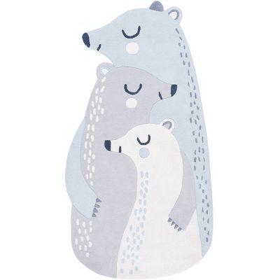 Tapis coton Artic dream ours polaires (170 x 90 cm)  par Lilipinso