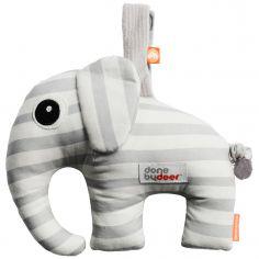 Doudou musical à suspendre Elphee l'éléphant gris (16 cm)