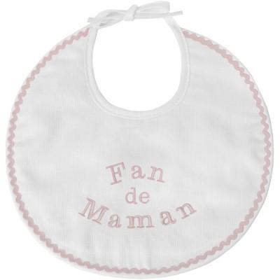Bavoir de naissance fan de maman rose  par ANVIE