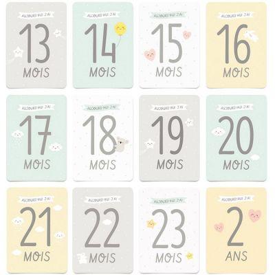 Kit 2ème année de bébé (12 cartes)