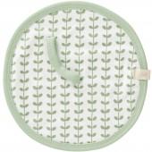 Doudou attache-sucette Feuille verte  - Fresk