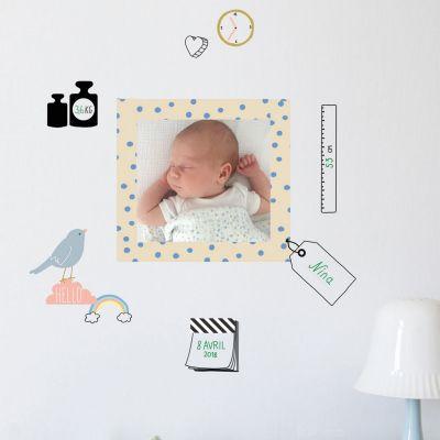 Stickers mon cadre de naissance Just a Touch (26 x 19 cm)  par Mimi'lou