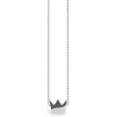 Collier chaîne 40 cm pendentif Full couronne 08 mm (argent 925°)  par Coquine