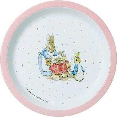 Assiette Pierre Lapin rose (18 cm)  par Petit Jour Paris