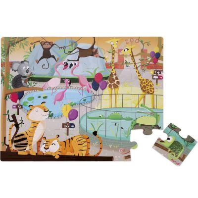Puzzle tactile Une journée au zoo (20 pièces)  par Janod