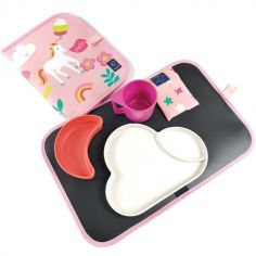 Set de table ardoise pliable Licorne