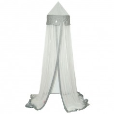 Ciel de lit Etoile blanc / gris (275 cm)