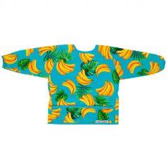 Bavoir à manches longues avec poche banane