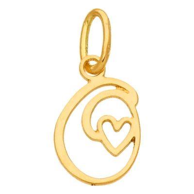 Pendentif initiale O (or jaune 750°)  par Berceau magique bijoux