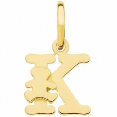 Pendentif initiale K (or jaune 375°)