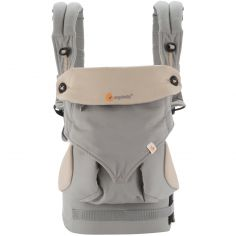 Porte-bébé 360° gris et beige (4 positions)