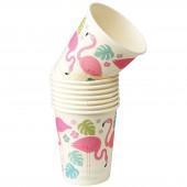 Gobelet en carton Flamingo Bay (8 pièces) - REX