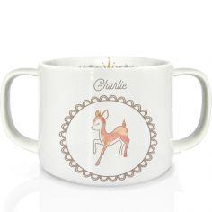 Tasse en porcelaine Faon (personnalisable)