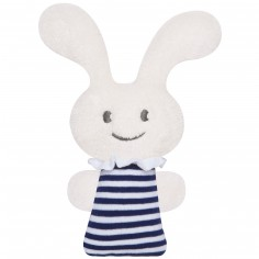 Hochet pouet pouet Funny Bunny marinière (12 cm)