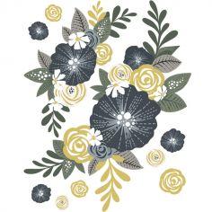 Sticker mural Couronne de fleurs (60 x 47,5 cm)