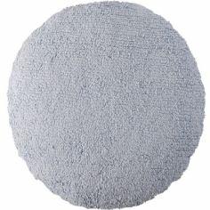 Coussin rond gris-bleu (45 cm)